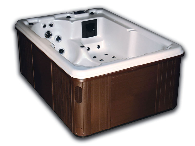 Mahogany Colored Hot Tub